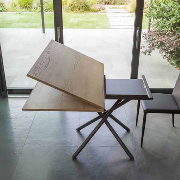 tavolino alzabile con apertura alibro Lotus